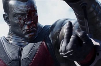 Deadpool flips off Colossus