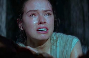 Rey in The Force Awakens.