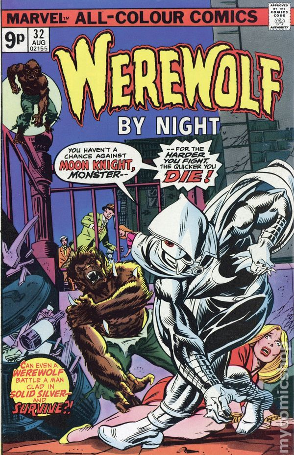 Werewolf by Night #32, featuring Moon Knight