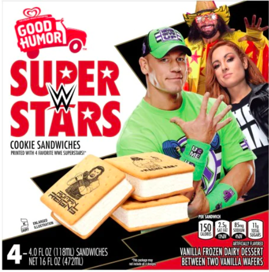 WWE: Good Humor To Release Ice Cream Sandwiches