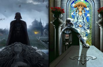 vader at padme's tomb