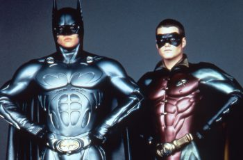 Val Kilmer as Batman and Chris O'Donnell as Robin in Batman Forever