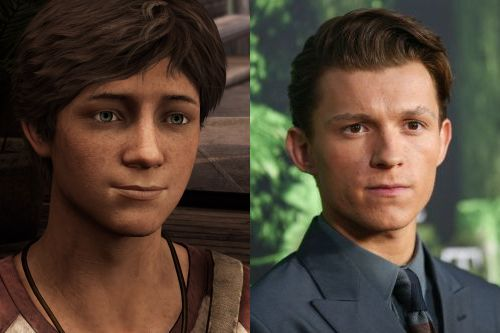 "Tom Holland compared to little Nate from ""Uncharted 3""."