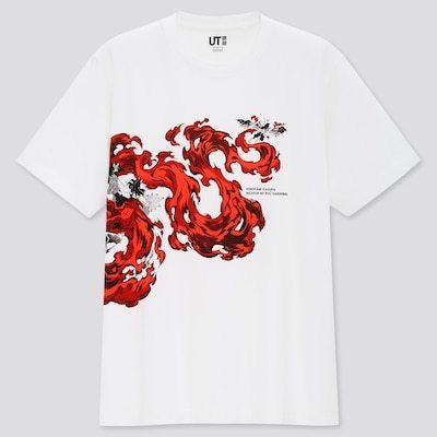 Shirt with Tanjiro's fire breathing style attack.