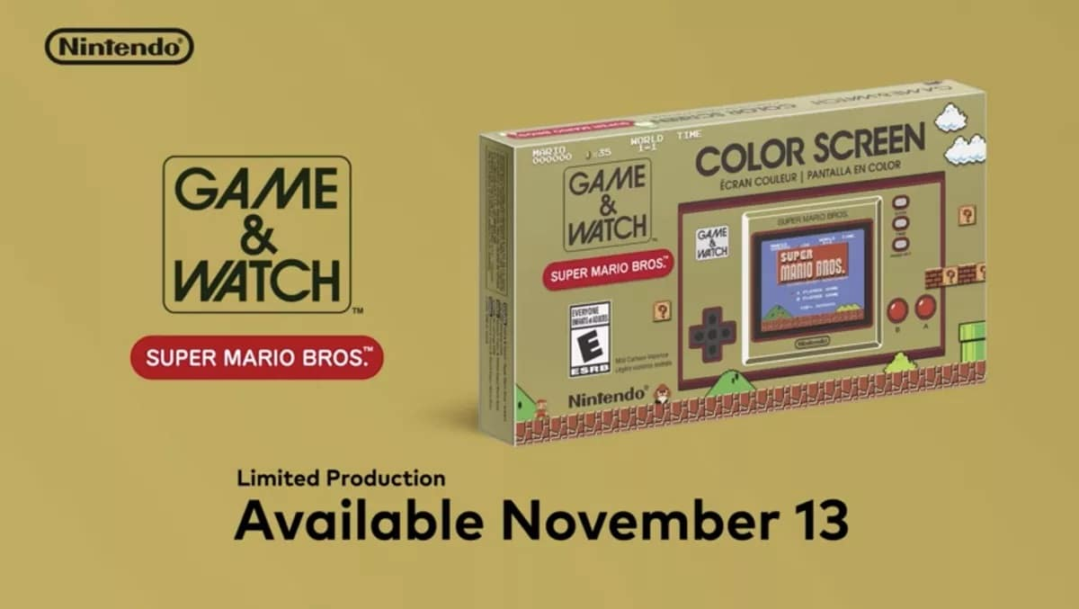 Super Mario Bros Game and Watch Coming Soon