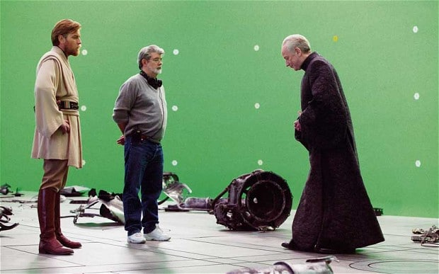 Star Wars green screen