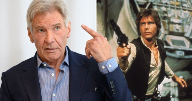 Harrison Ford: grumpy smuggler in all universes.
