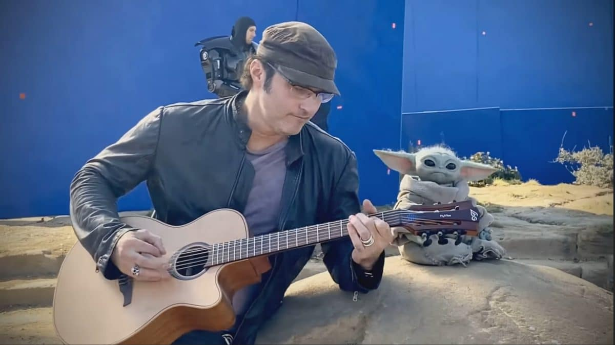 Robert Rodriguez & Baby Yoda (Grogu) Rocking Out Behind The Scenes