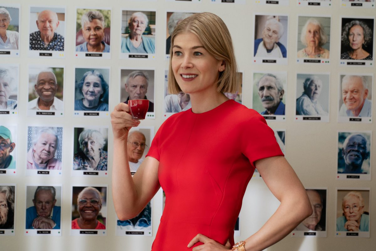 Rosamund Pike as Marla in I Care A Lot