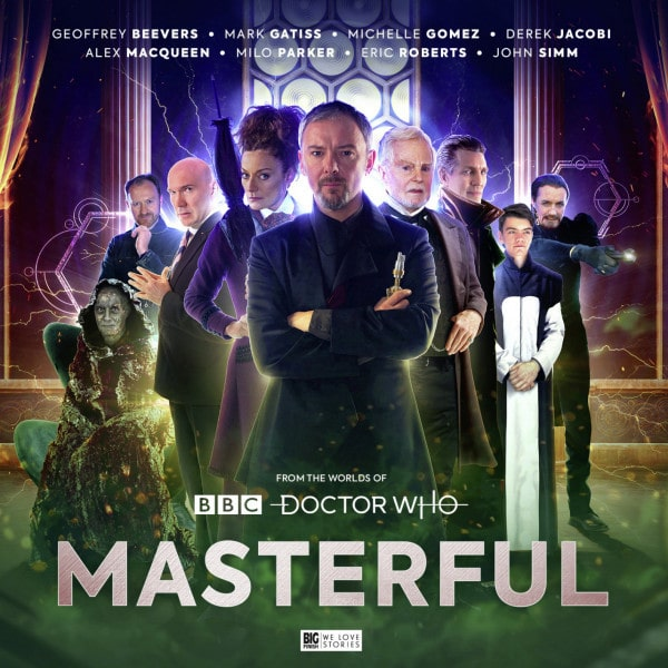 Cover photo for Big Finish's 'Masterful' featuring different actors who portray the Master