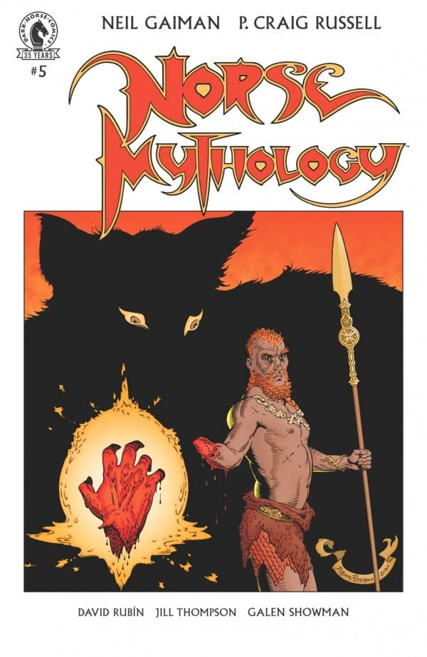 Norse Mythology #5 boring cover.