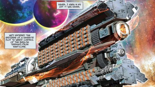 PMSS Sirius according to a comic book artist.