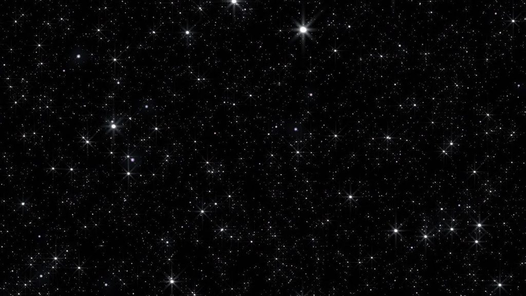 Space with so many stars.