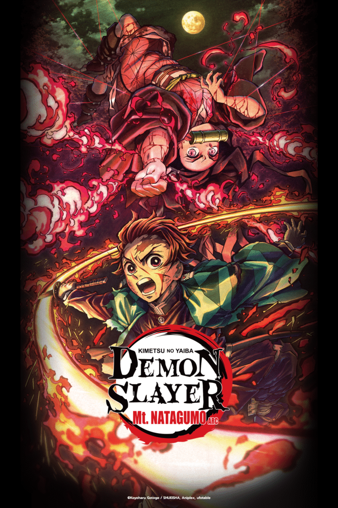 Demon Slayer: Mt. Natagumo Arc key art.